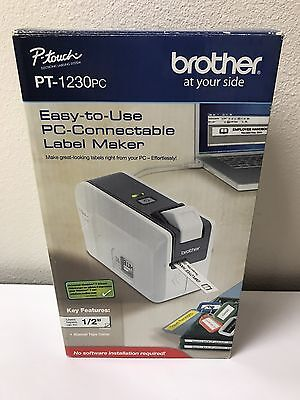 New Brother PT-1230PC Label Thermal Printer Electronic Labeling System
