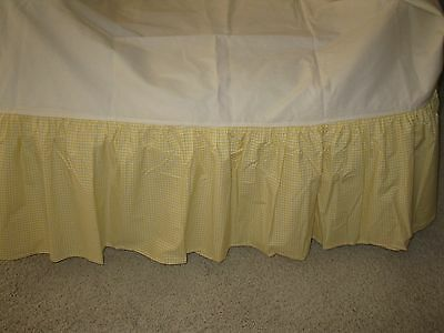 Pottery Barn Kids Twin Sz. Yellow Gingham/checked Bedskirt