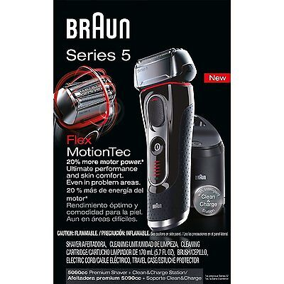 *NEW* Braun Series 5 5090cc Electric Foil Shaver with Clean & Charge Station