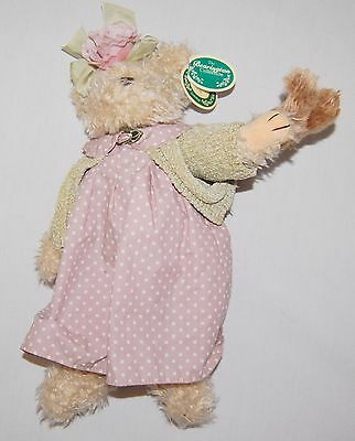 "Bearington Collection Teddy Bear 14"" Rose Plush Mommy Baby Brown Jointed"