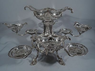 Georgian Epergne - Antique Centerpiece - English Sterling Silver - Pitts - 1771