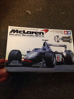 Tamiya Mclaren Mercedes MP4/13 1/20 Kit Open Barely Started Complete !!