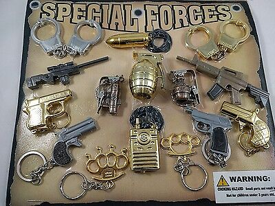 Vending Mini SPECIAL FORCES weapons ammo etc Display Set - very nice Keychains