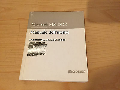 Manuale MS-DOS