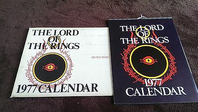lord of the rings 1977 calendar