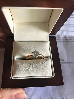 18ct Gold E Diamond Hand Made Engagement  Ring