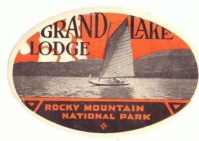 Colorado Rocky Mountain National Park Grand Lake Lodge Old Hotel Luggage Label