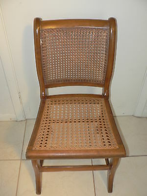 Antique Vintage Cain Back Chair Victorian Style Chair Old Wood Construction