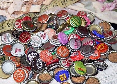 100 BOTTLE CAPS- Vintage Bottle Caps- Soda Caps- Art Recycle Upcycle- Soda Tops