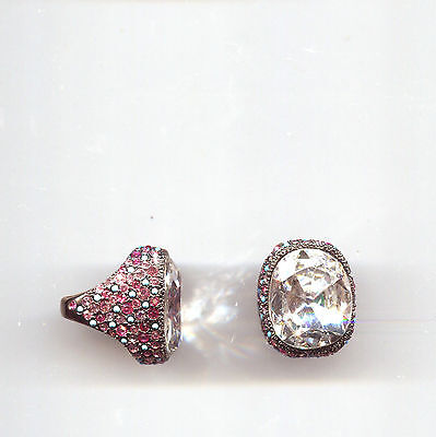 Kenneth Lane Pink Turquoise Clear Ring