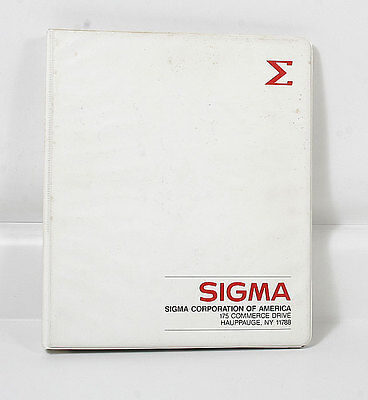 Sigma Dealer Sales Notebook/101063