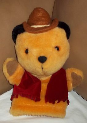 """The Sooty Show  COWBOY SOOTY 10"""" Plush Hand Puppet Gd/Con Free Post"""