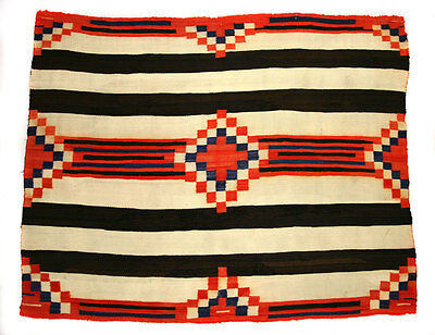 "Navajo 3rd Phase Chief's Blanket, c. 1890, 58"" H x 72"" W"