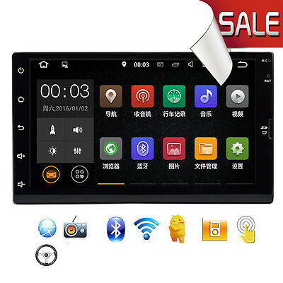 Android 5.1 Car Stereo 7 inch 1024x600 GPS Navigation Radio Bluetooth Player