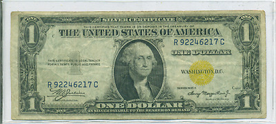 1935 A $1 Silver Certificate Yellow Seal North Africa