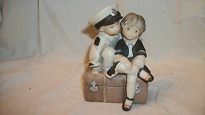 """Enesco Navy Figurine Pretty As A Picture """"Our Love Keeps Me Afloat"""" Kim Anderson"""
