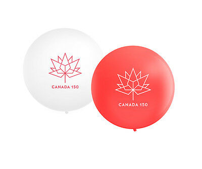 "Canada 150 Giant Round Balloon - 36"" Latex Helium Balloon - Pick Your Colour"