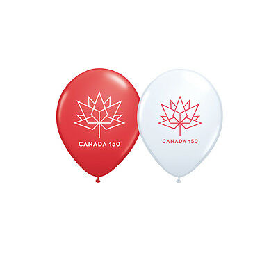 "Canada 150 Balloon - 11"" Latex Helium Balloon - Pick Your Colour"