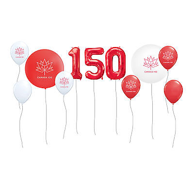 "Canada 150 Balloon Set - 34"" Mylar balloons with latex balloon accents"