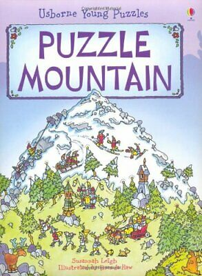 Puzzle Mountain (Usborne Young Puzzles) by Susannah Leigh Hardback Book The