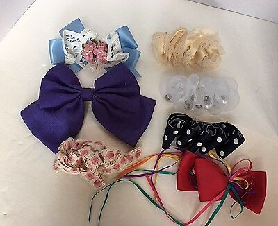 Lot of 6 VTG 80's & 90's Barrettes, Hair Bows Hair Clips Poofy