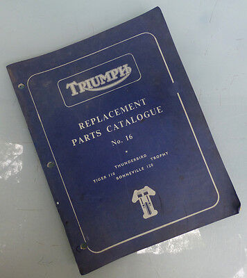 1959/1960 Triumph Motorcycle Factory Book Manual T120 Bonneville Trophy Tr6 T110