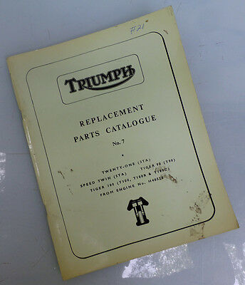 1965/1966 Triumph Motorcycle Catalg Book Manual Tiger 100 T100C/r T90 Speed Twin