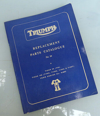 1968 Triumph Motorcycle Orig Factory Book Manual Tiger 90 100 T100C T100R T100R