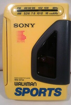 SONY WM-AF54 Walkman SPORTS AM/FM Radio Cassette Player NON OEM HEADPHONES(KOSS)