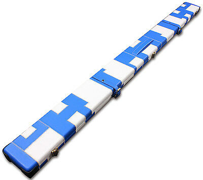 1 One Piece Wide Billiards Pool Snooker Cue Case Gorgeous Look With 3 Slots
