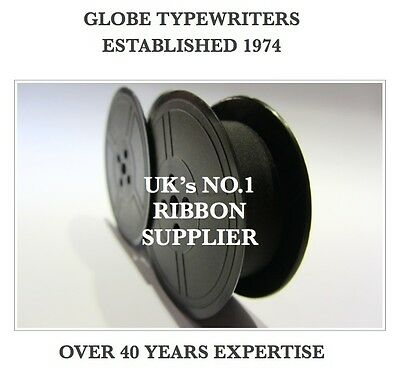 1 x 'UNDERWOOD 19' *BLACK* TOP QUALITY *10M* TYPEWRITER RIBBON TWIN SPOOL *R/W*