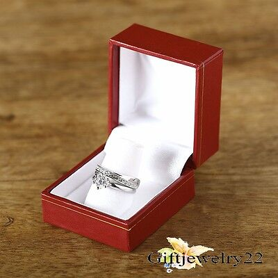 10K White Gold 1.12 Ct D/VVS1 Diamond Ladies Engagement Ring Wedding Bridal Set