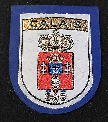 CALAIS Vintage Souvenir Travel Patch FRANCE Souvenir Travel Ecusson Coat Of Arms