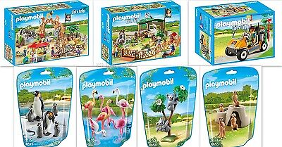 Playmobil Zoo + Petting Zoo Cart & Animals 7 Pieces in This Set 6634 6635 6636