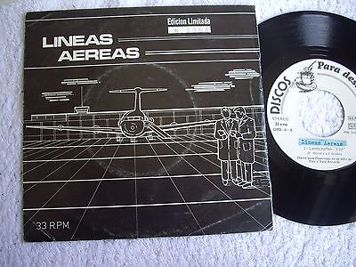 LINEAS AEREAS EP 7'' Landschaften +2 MINIMAL SYNTH SPAIN Nº 000 INSERT RARE 1983