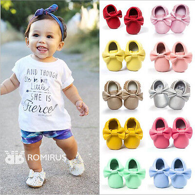 Baby Shoes Newborn Infant Pram Mary Jane Girls Princess Moccasins Soft Moccs