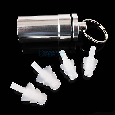 2 Pairs High Fidelity Concert Rave Musician Sound engineer DJ EarPlug Ear Plug