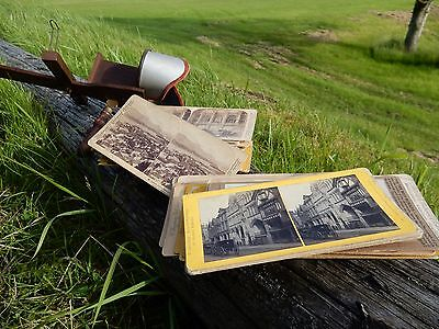 1890s STEREOCARDS and Viewer  plus postcards