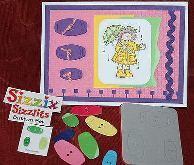 """Sizzix,SIZZLITS Die""""BUTTONS""""  # 3 ,oblong shape ,for diecuts,cards,scrapbooking,"""