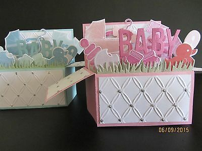 Handmade card, 3D Baby Card in a box -PERSONALISED