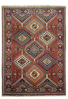 Tappeto Persiano (Tapis,rug,teppich) Yalame Cm 151X107 Annodato A Mano -2538-