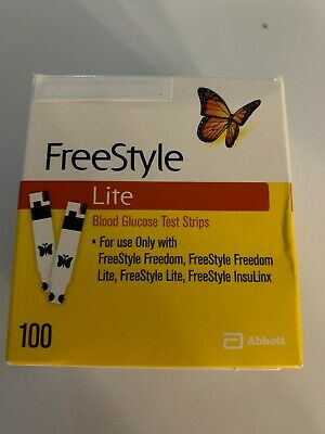 100 Freestyle Lite Glucose Test Strips Dinged Exp 05/2019 - 2020 SHIPS SAME DAY!