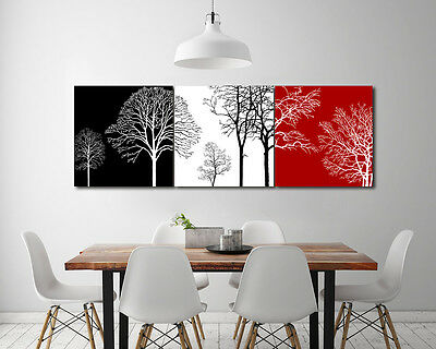 "Oil Painting on Canvas Home Abstract Wall Decor Trees Art NO frame 3pc 16"" SL200"