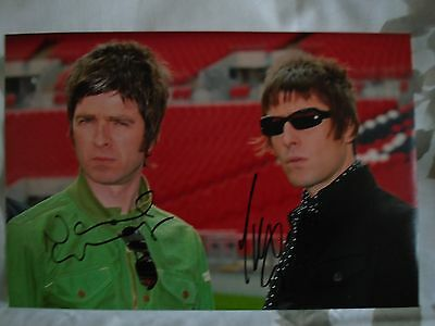 Oasis A4 Print Signed by Liam & Noel Gallagher
