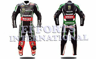 Tom Sykes Kawasaki Motorbike Racing Leather Suit  For Mens & Womens All Size