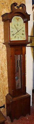8 x day Grandfather Clock by Abernthy and Sons Toronto Canada. Workings in wood.