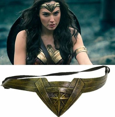 Vintage Gold Wonder Woman Cosplay Accessory Prop Headwear Headband Hair bands