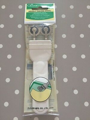 Clover Double Tracing Wheel Deluxe Adjustable Marks Seam Line & Cutting Edge