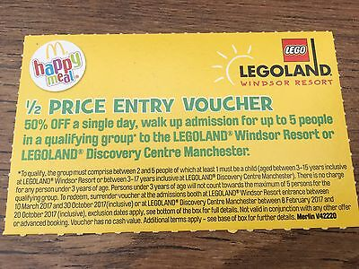 LEGOLAND WINDSOR THEME PARK or DISCOVERY CENTRE MANCHESTER - HALF PRICE ENTRY