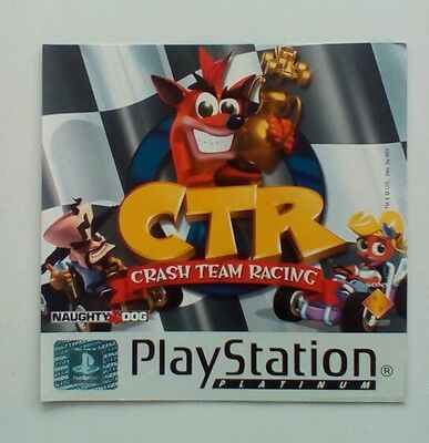 ***RARE*** Crash Team Racing Two Sided Flyer for PS1 PSOne PlayStation One